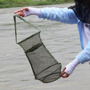 Fishing Bait Trap Cast Dip Net Cage Crab Fish Minnow Crawdad Shrimp Foldable