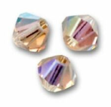 Lot 5 Perles Toupies 6 mm  Cristal Swarovski - LIGHT COLORADO TOPAZ AB XILION