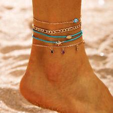 ChainFoot Beach Beach Sandal Jewelry Lm 5X/Set Boho Ankle Bracelet Women Anklet