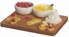 Dollhouse Miniature Lemon Tart Preperation on a Wood Board