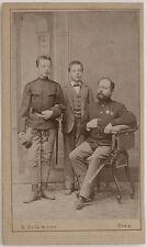 Original 1870er Albumin CDV Militär mit Orden von S. VOLKMANN