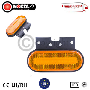 8 X NEON AMBER SIDE MARKER 12/24 VOLT POSITION LIGHTS FOR TRUCKS AND TRAILERS