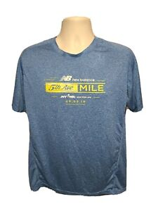 2016 New Balance NYRR 5th Ave Mile Run for Life Mens Large Blue Jersey