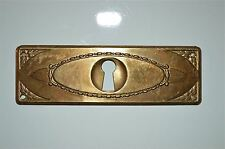 Chapetón De Latón Antiguo Original prensado placa muebles de ojo de cerradura pecho KP14