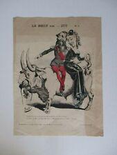 BISMARCK /& NAPOLEON 1er DIALOGUES des MORTS LC 022//CARICATURE 1895