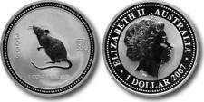 2007 2008 Silver 1 oz Australian Silver Lunar Rat Series 1