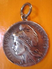 SUPERBE MEDAILLE MARIANE ET COQ FRANCAIS  2 FACES VINTAGE 70 NEUF/OLD NEW MEDAL