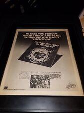 Wishbone Ash Locked In Rare Original Tour Promo Poster Ad Framed!