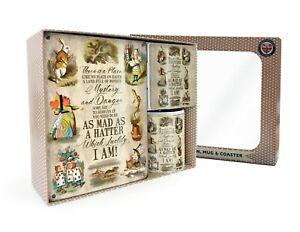 There Is A Place, Alice in Wonderland Collage Gift Set Mug + Coaster + Sign (og)