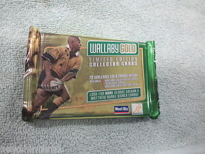 #D243.  WALLABY GOLD WEETBIX RUGBY UNION 20 CARD SET - SEALED PACKET
