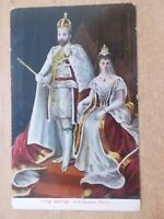 VINTAGE POSTCARD - KING GEORGE V & QUEEN MARY CORONATION 1911 - ROYALTY POSTCARD