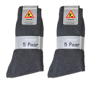 100 Paar Herren Arbeits Socken Arbeitssocken 92% BW  uni anthrazit Größe 39-50