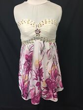 Ever - Pretty  white and floral Pink colour Dress size 12