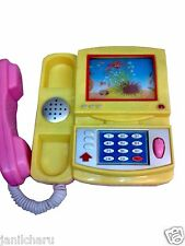 Cartoon Phone Telephone Infant baby music toy kid small child Battery operated
