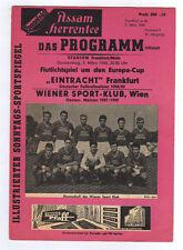 Orig.PRG    EC 1   59/60   EINTRACHT FRANKFURT - WIENER SC   1/4 FINALE  !!  TOP
