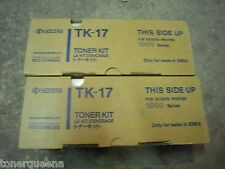 2 Genuine Kyocera Mita FS-1000 FS-1010 FS1050 Printer Toner Cartridge TK17 TK-17