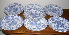 """Set of 7 DINNER PLATES 10.75"""" CEN18 FLORAL Design by CENTURY STONEWARE of JAPAN"""