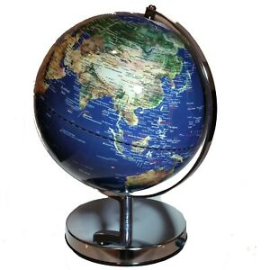 HIGH QUALITY Stunning  Blue World Globe Table LED Lamp Home Decor Wedding Gift
