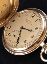 CERTIFIED VERY RARE A. LANGE & SOHNE GLAHUTTE UHR 14k GOLD POCKET WATCH ca. 1938