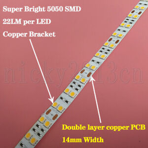 Ultra Bright 5M 5050 SMD LED Flexible Strip Light 600LEDs 22LM Double Row 16.4FT