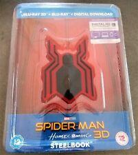 SPIDER-MAN HOMECOMING BluRay 3D + 2D STEELBOOK Resin Magnet + Bonus Comic Book