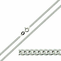 "925 Sterling Silver CURB Chain Necklace 14 16 18 20 22 24 26 28 30"" Inch 1mm NEW"