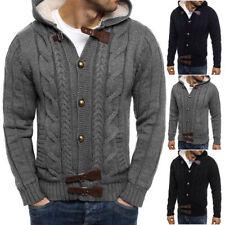 Unifarbene Herren-Pullover & -Strickware mit regular Länge und Knöpfen