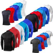 Mens Boys Pro Performance Base Layer Compression Top - Long & Short Sleeve &Vest