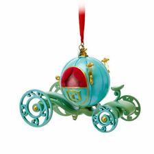 Disney Authentic Cinderella Pumpkin Coach Christmas Ornament Sketchbook Figure