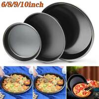 6/8/9/10Inch Non Stick Pizza Tray Carbon Steel Baking Round Oven Pizza Pan Plate