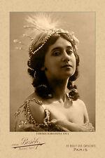 TAMARA KARSAVINA  1911 Ballets Russes  Photograph Cabinet Card Vintage RP