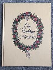 Our Wedding Memories Vintage Unused Wedding Album Scrapbook