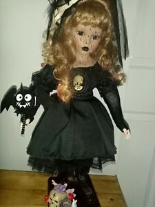 GOTH Doll queen of the cemetery  ooak gothic art Alice in Underland
