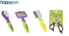 More details for happypet small animal grooming comb brush nail clippers slicker rabbit guinea