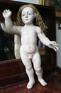 171 Una statua del Settecento di Bambino Gesù in legno policromo