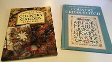 Country Cross Stitch Book Lot of 2 by McCall's & Jane Iles
