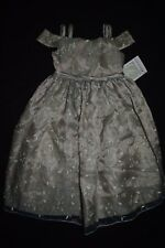 Toddler Girls Bonnie Jean Dress Green Sz Size 3 3T Floral Embroidered Flowers
