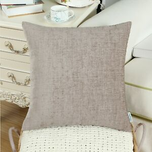 """CaliTime Cushions Covers Throw Pillows Shells Home Decor Solid Chenille 22 x 22"""""""