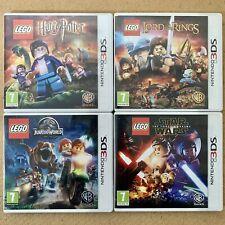 Nintendo 3DS Games Bundle x 4 - LEGO Harry Potter Jurassic World Star Wars LOTR