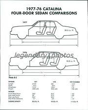 1976-77 Catalina Sedan Comparisons Original Photo
