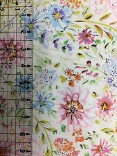 By The Yard Free Spirit Fabrics Dena Designs Butterfly Garden Watercolor White