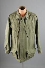 Vtg Men's 1968 Dated Vietnam War Shirt Jacket sz Med Long #2499 Green Ripstop