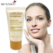 MISSHA Super Aqua Foam Cell Renew Snail Cleansing Moisturizing Oil Control 20ml