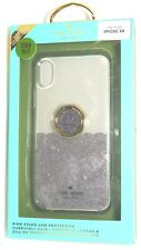 kate spade HardShell Case + Ring for iPhone XR - Scallop Black Multi/Clear