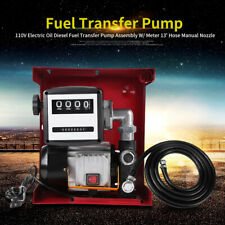 Large Digits Display 110v Electric Oil Diesel Fuel Transfer Pump With Nozzle Hose