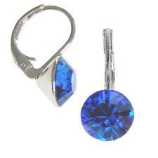 8mm Ohrringe mit Swarovski Kristall in der Farbe Capri Blau