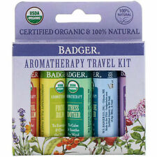 Badger Company, Organic, Aromatherapy Travel Kit, 5 Pack, .15 oz (4.3 g) Each