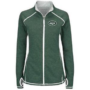 New York Jets NFL Women Majestic Therma Mock Neck Zip Jacket Coat L 12 XL 16 NWT