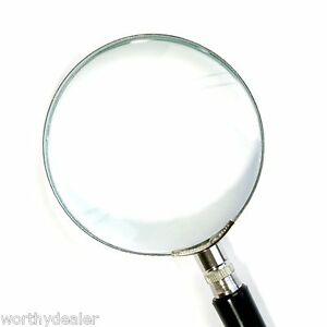 Magnifying Glass Hand Held Classic Magnifier, Large 75 Mm 5x Magnification