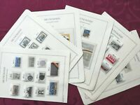 WEST GERMANY(BRD) 1990: 39 stamps+ 2 minisheets, all MNH** VF, 6 album pages